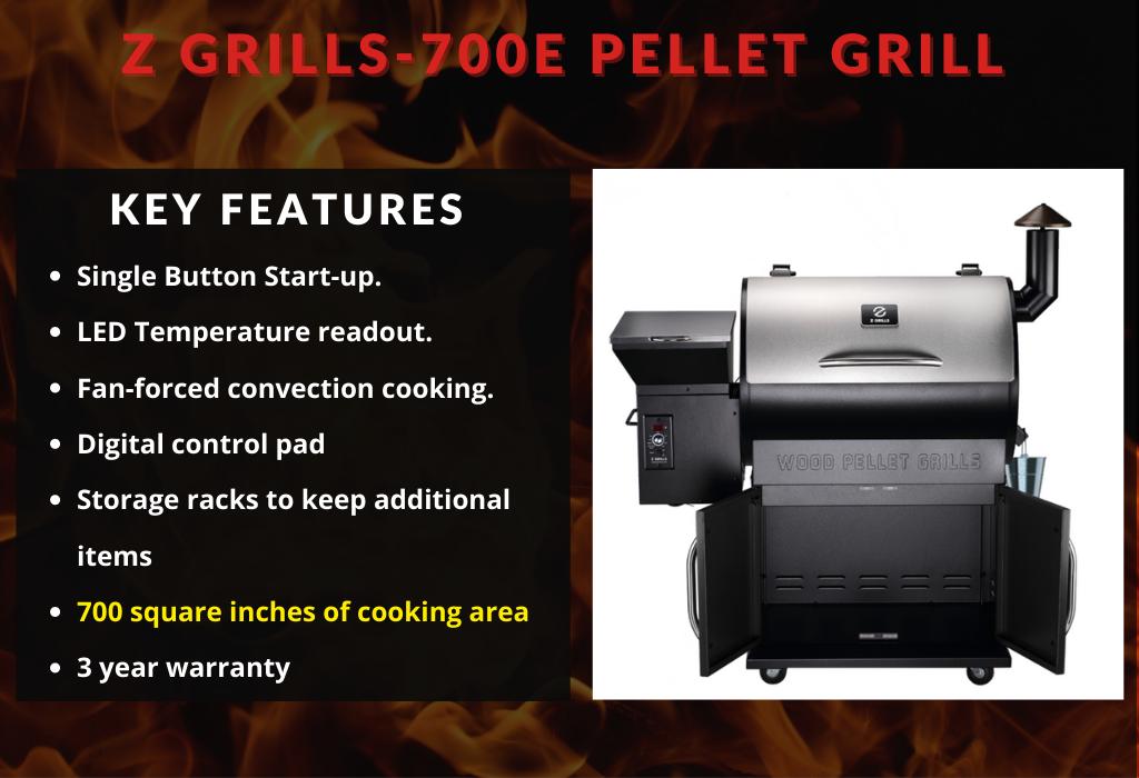 Z Grills-700E Pellet Grill Key Features