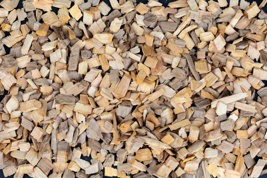 wood chips used to make wood pellets